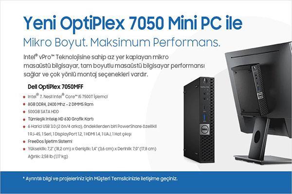 Dell OptiPlex 7050 Mini Pc Stoklarda