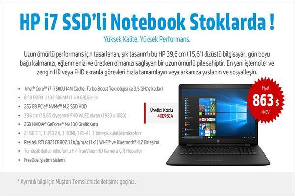 Hp i7 SSD li  8GB Ram Notebook